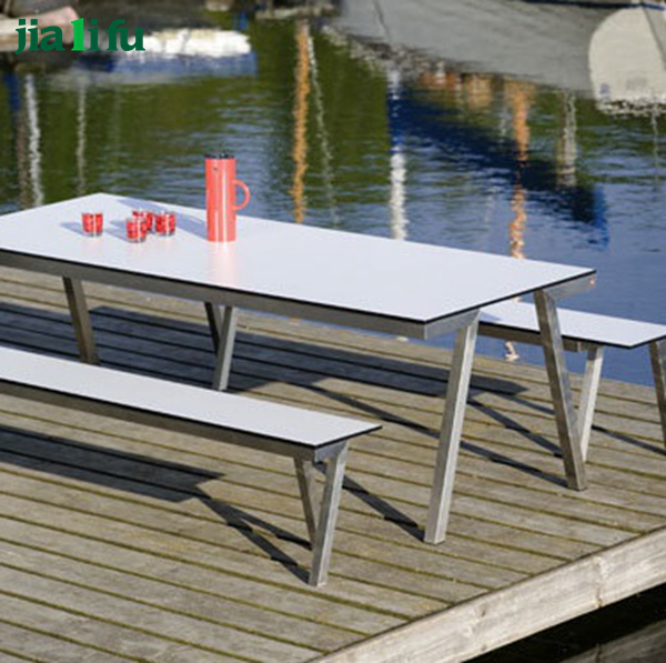 modern stainless steel small outdoor benches for sale