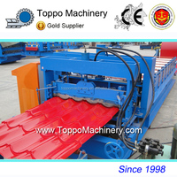 Latest Glazed Iron Roof Ridge Cap Tiles Manufacturing Machine With Best Price