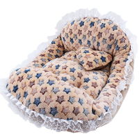 Lovely plush comfortable pet bed dog bed