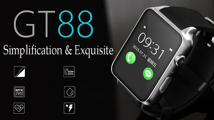 GT88 1.48 inch TFT touch screen bluetooth watch for Android OS smart android watch