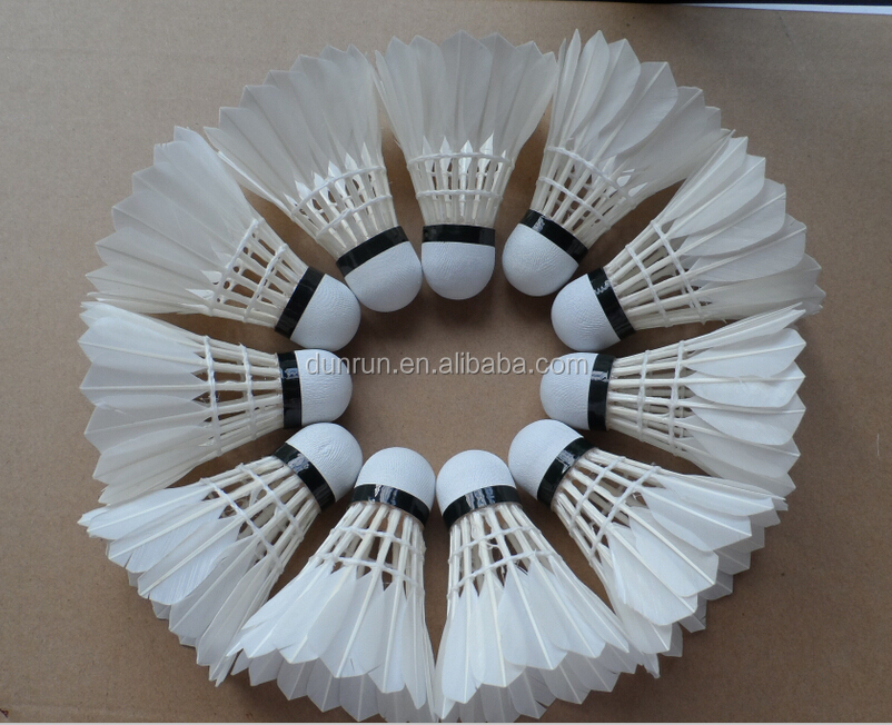 Best sale duck feather training badminton shuttlecock