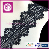 2016 new design 10cm embroidery hollow polyester guipure chemical lace trim