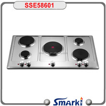 stainless steel 5 hotplate electric stove and hob SSE58601