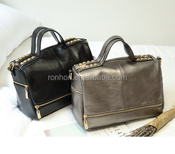 China Supplier Wholesale PU hand tote bag, fashion hand bag with factory direct supply