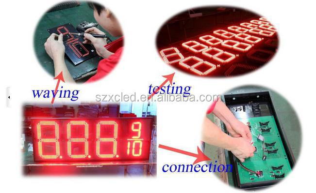 Outdoor red 8 inch LED digital /date/TIME/Tempreture/numerical display