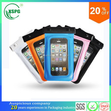 2017 Hot sale transparent waterproof pvc cellphone case with OEM service