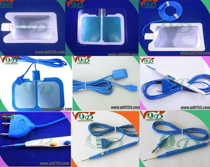 Medical surgical electrosurgical pad/grounding pad with special plug