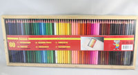 60 pc rainbow Color Pencil in a wooden case for children painting and drawing