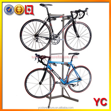 indoor two tier bicycle display rack