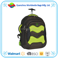 Wholesale laptop trolley bag, wheeled school trolley backpack