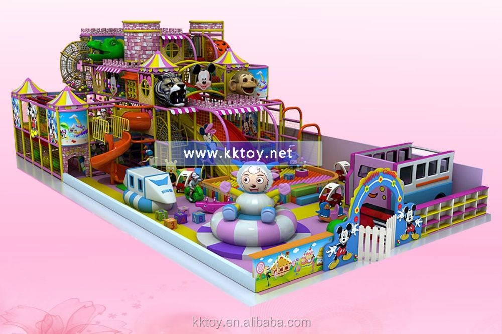 new type kids castle structure indoor inside play area playground amusement park inflatable park with interesting games