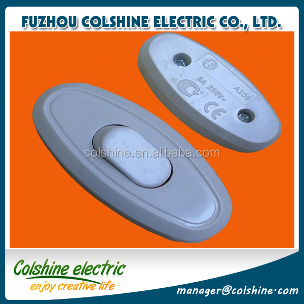 Colshine CE listed ABS 3A 250V one way push bell switch/1gang wall door calling bell push button