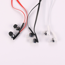 Wholesale in-ear earphones blutooth with flat cable 1.3m, music stereo headsets for smart phones