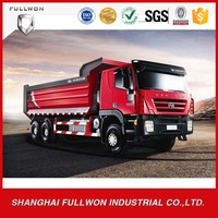 Iveco left hand drive big size dimensions dump truck with spare parts