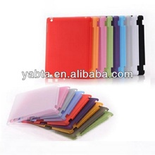 Transparent smart case cover mate for ipad 2, 3, 4 back side cover case