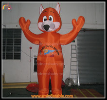 Giant inflatable model,inflatable fox cartoon,inflatable animal for sale