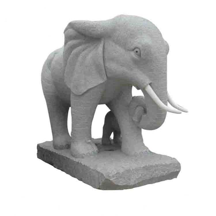 Cheap and best hand carved custom metrail color size standing elephant statue