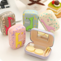 Wholesale Colorful lovely plastic cute contact lens case