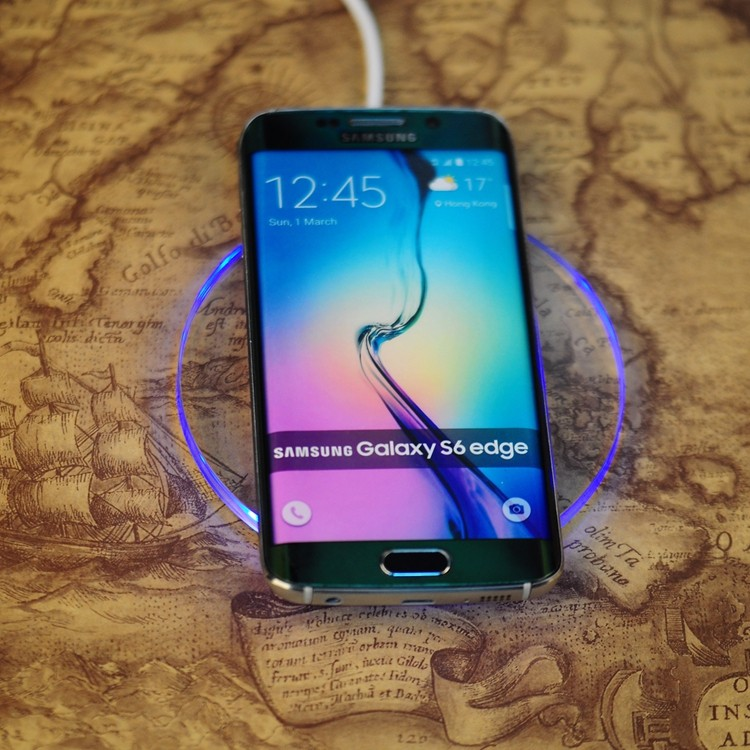 Cool LED indictor Charging QI Standard Wireless Charger Pad And Receiver For Both iPhone Android Phone