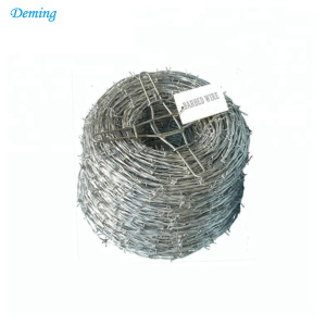 barbed wire price per roll/hot dipped galvanized barbed wire fencing/barbed wires