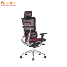 Full Mesh working chair Swivel Office Ergonomice Executive Chair with footrest