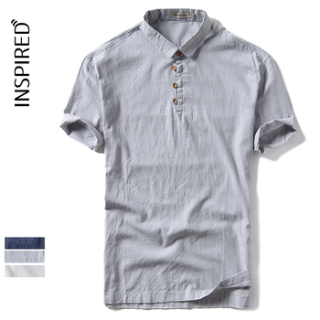 Wholesale Men's Summer Cotton Linen T Shirt Plus Size polo shirt for men