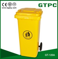 ultrastrong plastic colored trash can