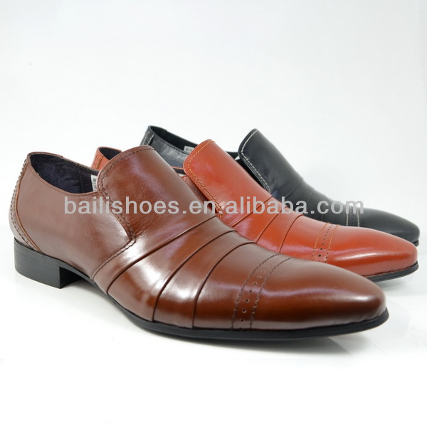 Man genuine oily cow leather shoes 3625-68