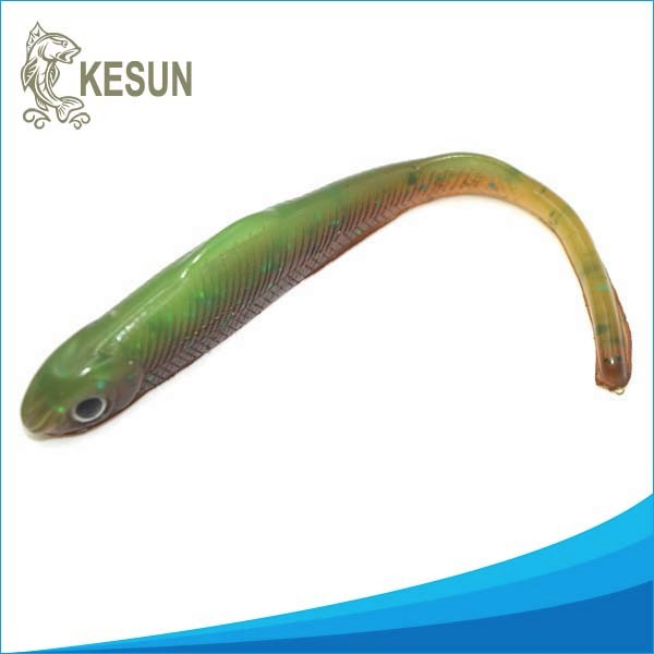 85mm green color crappie bait soft shad fishing lures for Crappie fishing bait