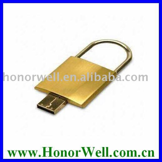 Oem Logo Free Metal Lock Shape Usb Key