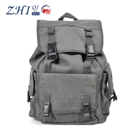 New style can custom canvas backpack bag hiking backpack for soldier