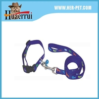 Manufacturers selling heat transfer printed colorful dog collar and leash
