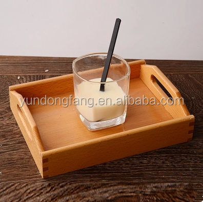 New design bread tray cake rectangle solid wood storage trays milk fruit trays on sale