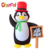 Holiday Time Christmas Decorations Inflatable Penguin With Red Top Hat Home Decoration Items