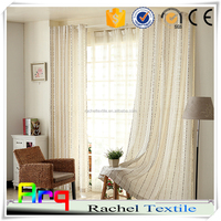 Pure light color design for curtain- Bead string pattern 100% polyester embroidery fabric- window/ living room modern curtain