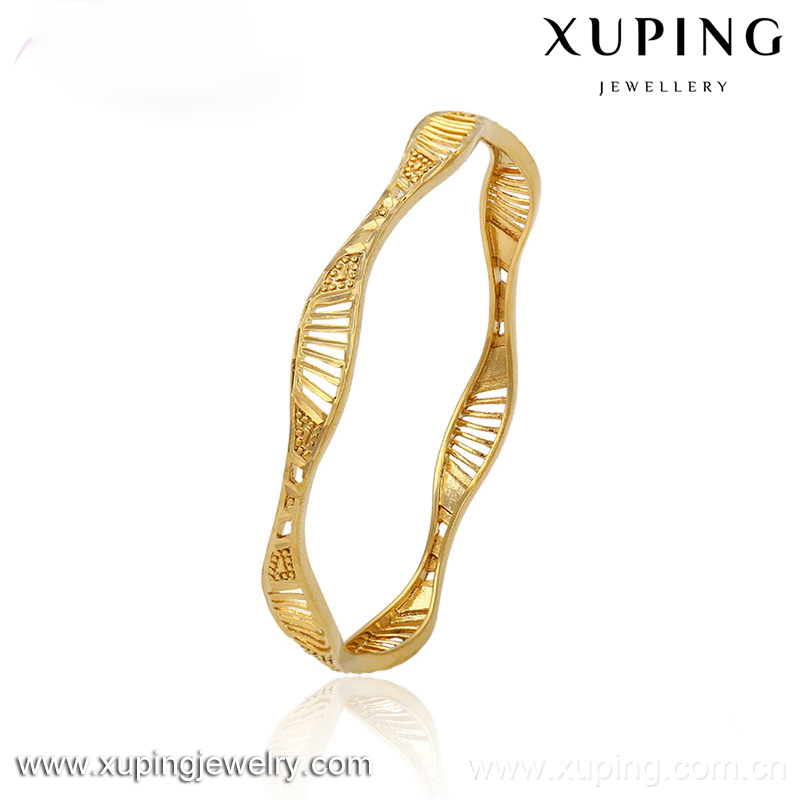 51340 xuping costume jewellery saudi 24 carat gold jewelry bangle without <strong>stone</strong>