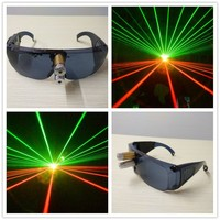 Alibaba New design laser glasses with 1pcs green and red laser dancing stage show light DJ CLUB party with inside battery