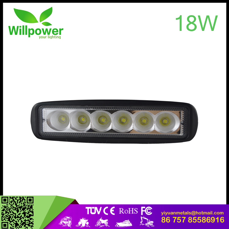 "CE ROHS 18w 6"" inch Cob led work light 4x4 spot lights off road light in automotive"