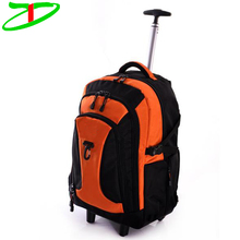 Travel Multi-Function Large Capacity Trolley Backpack Durable Laptop Rolling Bag