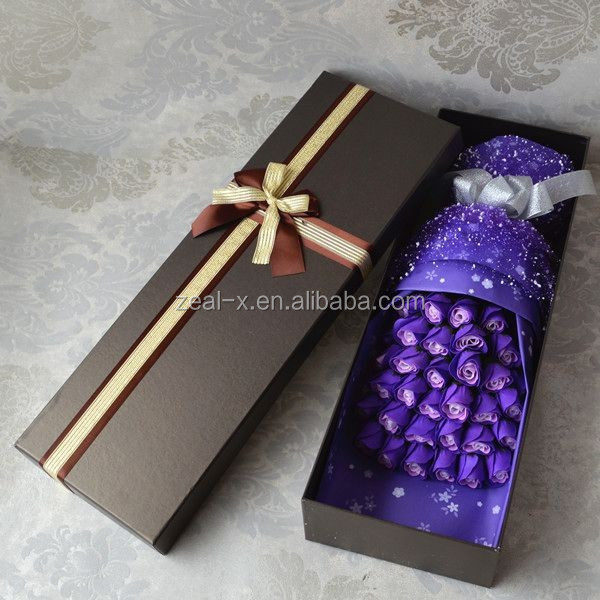 China gold gift paper box supplier customize luxury Tulip box
