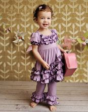 wholesale spring organic cotton triple ruffles baby clothes