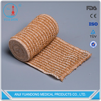 YD30104 New Product Surgical elastic medical cotton /spandex crepe bandage (skin color)includes fastening clips