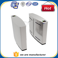 stainless steel access control fingerprint flap turnstile mechanism gate