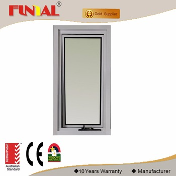 2017 new Australia standard Double tempered glass aluminum window