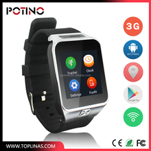 Wholesale CE Rohs T6 Android Smart Watch 3G Watch Mobile Phone