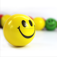 Smile Face Print Sponge Foam Ball Squeeze Stress Ball