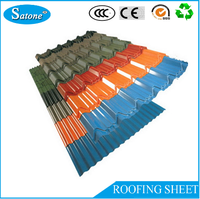 2016 Hot Sale manufacture quality sea wave color roofing sheet glazed tile