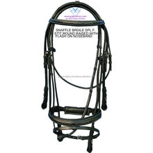 Snaffle Bridle -Fancy Stitched Black