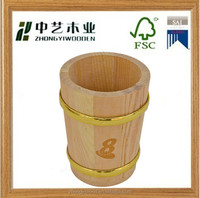 hot sale mental rim custom cheap antique beer small wooden bucket for sale