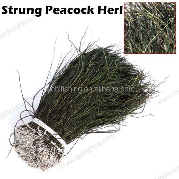 Wholesale fly tying strung peacock herl